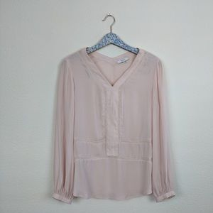 Ro & De Millennium Pink Long Sleeve Blouse